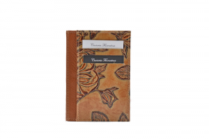 CUOIERIA FIORENTINA  Printed calfskin holder Leather wallet beige Made in Italy