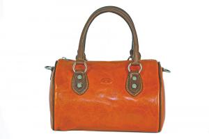 CUOIERIA FIORENTINA Leather Satchel bag ladies leather Orange  Italian Style