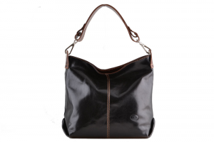 CUOIERIA FIORENTINA Italian bag leather handles removable leather Female Black  Handmade