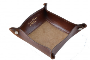 CUOIERIA FIORENTINA  Empty leather leather pockets Brown  Italian style Italy