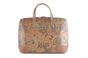 CUOIERIA FIORENTINA bag Calf Woman printed beige leather Made in Italy Italy