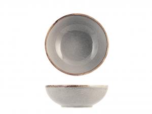 H&H 6 Boli (Flat Plates) Stoneware Reactive Gray Cm.16,5 Italian Style Italy