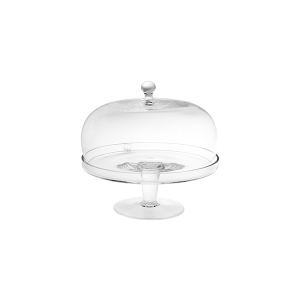 H&H Lift With Glass Dome 18 Cm Trays And Risers Italian Style Exclusive Brand