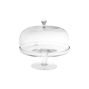 H&H Lift With Glass Dome 22 Cm Trays And Risers Italian Style Exclusive Brand