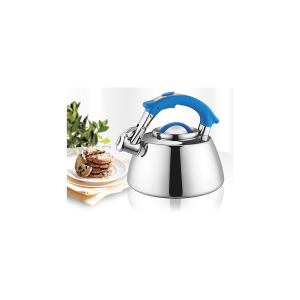 H&H Stainless Steel Kettle With Filter Ghibli Blue Lt2.5 Italian Style Italy