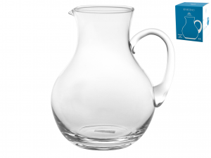 H&H Glass Pitcher Lt1.8 Bottles And Jugs Italian Style Exclusive Brand Italy