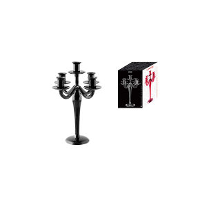 H&H Candlestick 5F V/Black 31 Furniture And Home Decorations Italian Style