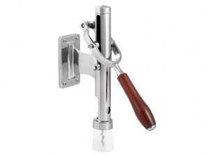 H&H Wall Corkscrew Chrome Wood Handle Italian Style Exclusive Brand Italy