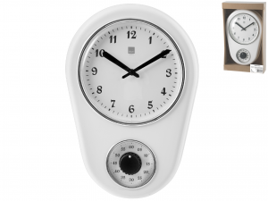 H&H Wall Clock Cm21Xh31 Clock And Alarm Clock Italian Style Exclusive Brand