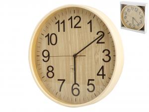H&H Clock Light Wood Wall Round 32 Clock And Alarm Clock Italian Style Italy