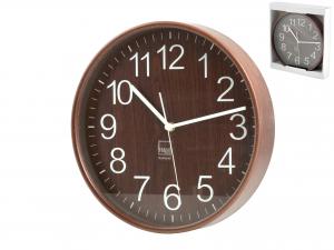 H&H Wall Clock Round Dark Wood 25 Clock And Alarm Clock Italian Style Italy