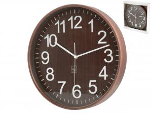 H&H Wall Clock Dark Wood Round 32 Clock And Alarm Clock Italian Style Italy