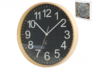 H&H Round Wooden Wall Clock Cm32 Clock And Alarm Clock Italian Style Italy