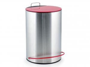H&H Pedal Steel Dustbin Cop Red Lt5 Bins Baskets Garbage Bags Italian Style