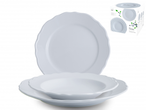 H&H Tableware 18 Pieces Ceramic Sonia Azure Kitchen Ware Italian Design Italy