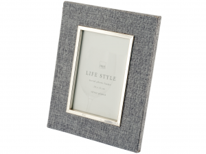 H&H Photo Frame Gray Linen 10X15 Frames And Mirrors Italian Style Exclusive Brand