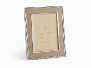 H&H Beige Fabric Photo Frame 10X15 Frames And Mirrors Italian Style Italy