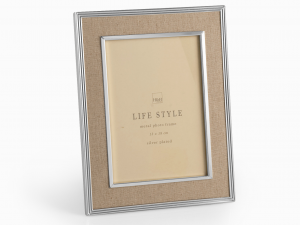 H&H Beige Fabric Photo Frame 13X18 Frames And Mirrors Italian Style Italy