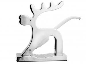 H&H Nutcracker Chrome Reindeer Kitchen Accessories Italian Style Exclusive Brand