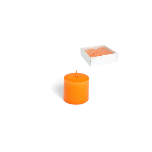H&H 12 Pillar Candles Basic 50X50 Orange Italian Style Exclusive Brand Italy