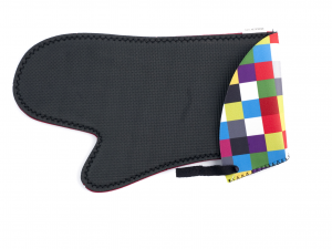 H&H 2 Oven Gloves Neoprene Square 29X17 Cm Italian Style Exclusive Brand Italy
