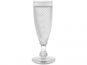 H&H 6 Chalice Diamond Glass Flute 16 Cl Italian Style Exclusive Brand Italy