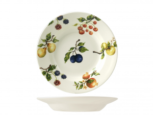 HOME Set 6 dishes fruit season bottom cm23,1 Exclusive Design Italian Style