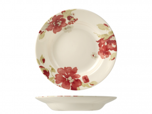 HOME Set 6 Dishes passion blossom bottom cm23,1 Exclusive Design Italian Style