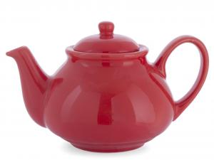 H&H Red Ceramic Teapot 1100 cc Ceramics Kitchen items online Italian Style