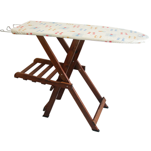 HOME Ironing Board Pinocchio Dark Wood Laundry Exclusive Design Italian Style