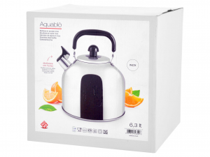 HOME Stainless steel kettle Aquabl     with Whistle 6,3 Lt Exclusive Italian Style