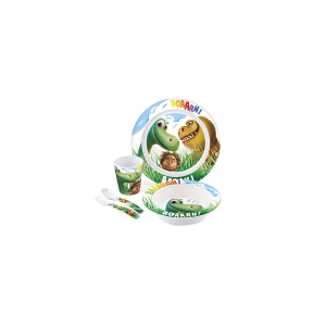 HOME Set 5 Baby Melamine Gooddinosaur Baby Exclusive Brand Design Italian Style