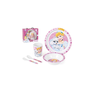 HOME Set 5 Melamine Baby Princess & Pets Baby Exclusive Design Italian Style