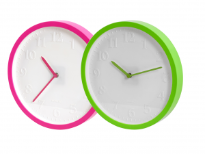 HOME Wall Clock Assorted Round Batteries 30 Exclusive Brand Design Made in Italy
