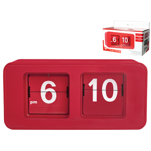 HOME Clock Table Dig Flip Flop Red Exclusive Brand Design Made in Italy