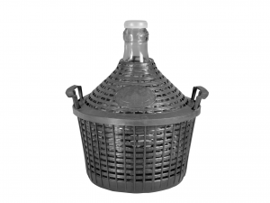 HOME Glass Carboy Plastic Basket Lt15 Exclusive Brand Design Italian Style