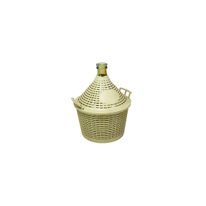 HOME Glass Carboy Plastic Basket Lt25 Exclusive Brand Design Italian Style