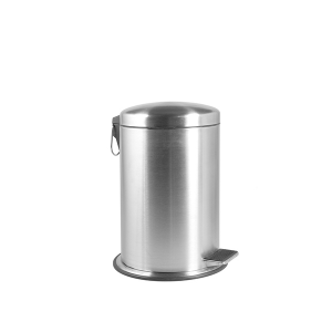HOME Satin Stainless Steel Trash Can With Pedal 5 Exclusive Italian Design Brand
