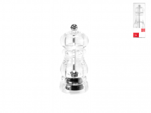 HOME Acrylic Pepper Mill 11 Cm Carbon Exclusive Brand Design Italian Style