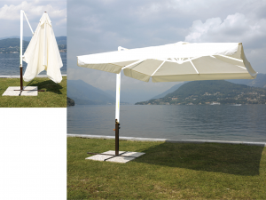 HOME Parasol 3X3 Anthracite Colored Lateral Exclusive Brand Design Italian Style