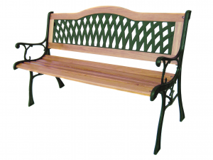 HOME Wooden Bench / 126X53X75 Green Iron Exclusive Brand Design