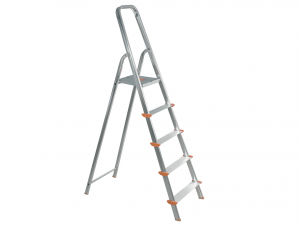 HOME Aluminum Ladder 5 Steps Exclusive Brand Design Italian Style