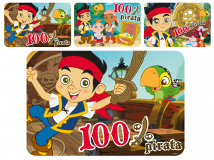 HOME Set 12 Mats Polypropylene Jake Disney Pirate Baby Exclusive Italian Style