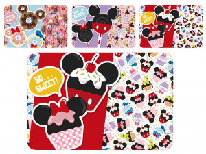 HOME Set 12 Mats Polypropylene Disney Mickey Baby Exclusive Italian Style
