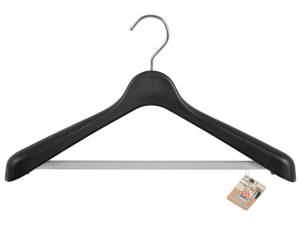 HOME Pack 6 Coat Black Polypropylene With 42 Auction Wardrobe Storage