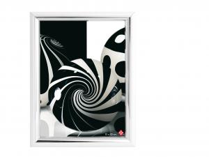 HOME Pack 6 Vertical Plastic Photo Holder Silver 15X20 Frames Top Italian Brand