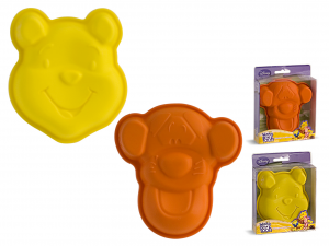 HOME Pack 6 Silicone Molds Disney Winnie / Tigro Cm12 Pastry Baking