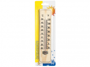 HOME Set 6 Thermometers For Interior Wood 22 Exclusive Design Italian Style