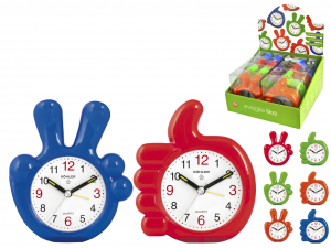 HOME Pack 8 Assorted Alarm Clocks Like Quartz Exclusive Design Made in Italy