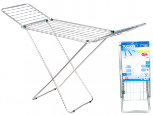 HOME Clotheshorse Aluminum Tucson With Extension Laundry Top Italian Style